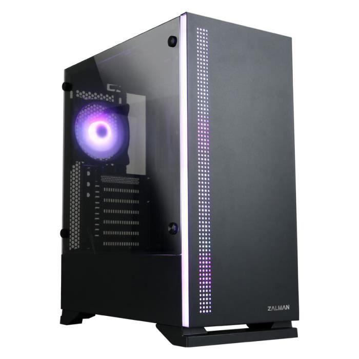 ZALMAN S500 PC CASE - Torre media - Nero - Vetro temperato - Formato ATX (S5TGBK)
