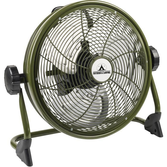 BESTRON Brasseur - Cestino 35cm - ricaricabile - colore \ '\' Verde per esterni \ '\' - Flusso d'aria 38,42m³ / min. - Velocità dell'aria 3,35 m / sec