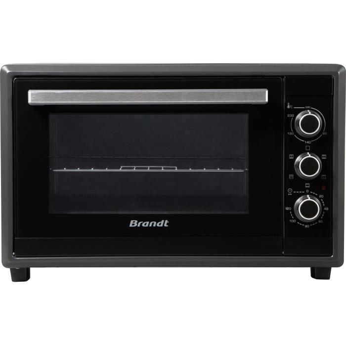 Mini-forno BRANDT FC55MUBSL - 55L - 2200W - Nero - Libera installazione
