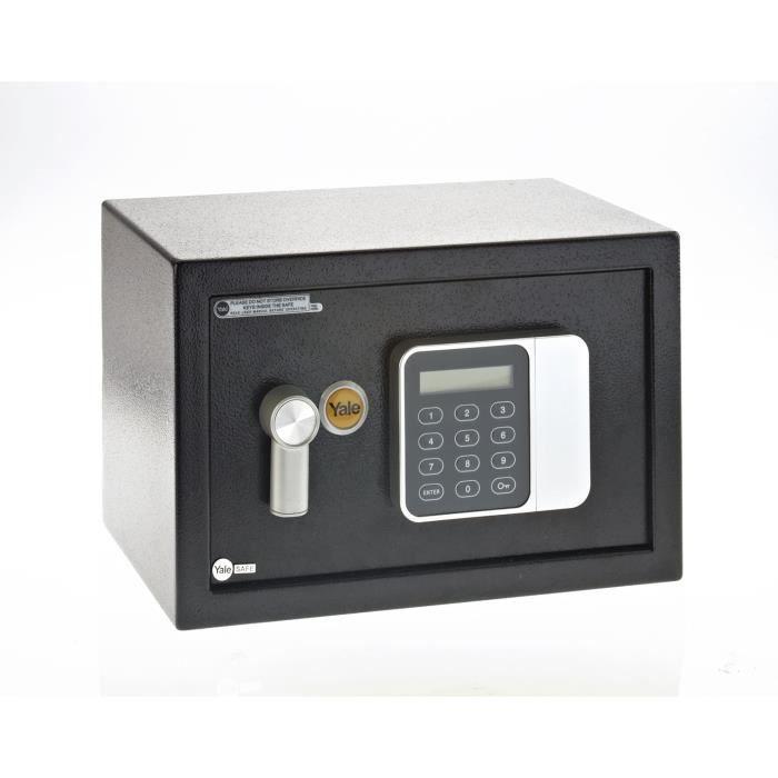 Cassaforte elettronica per hotel in acciaio Yale YSG / 250 / DB1, codice chiave, dimensioni 25 × 35 × 25 cm (16L)