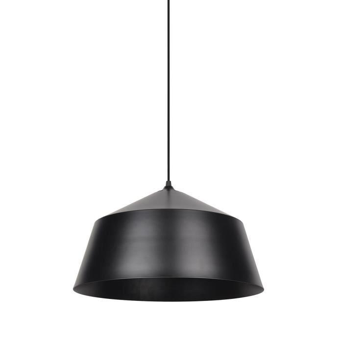 COREP Lampada a sospensione a cupola in metallo - Nera - Ø40 x H22 cm
