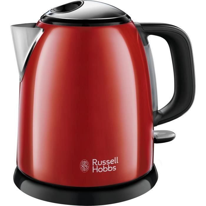 RUSSELL HOBBS 24992-70 Bollitore compatto Colors Plus Capacità 1L Filtro anticalcare lavabile rimovibile - Rosso