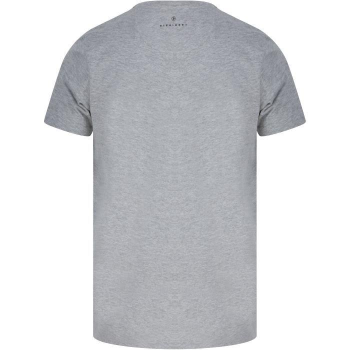 DISSIDENT T-Shirt City Gris Clair Homme