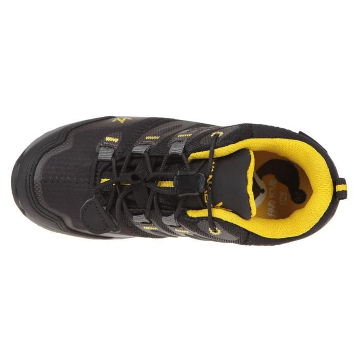 WANABEE Chaussures de randonnée Hike 300 Low - Garçon - Noir et jaune