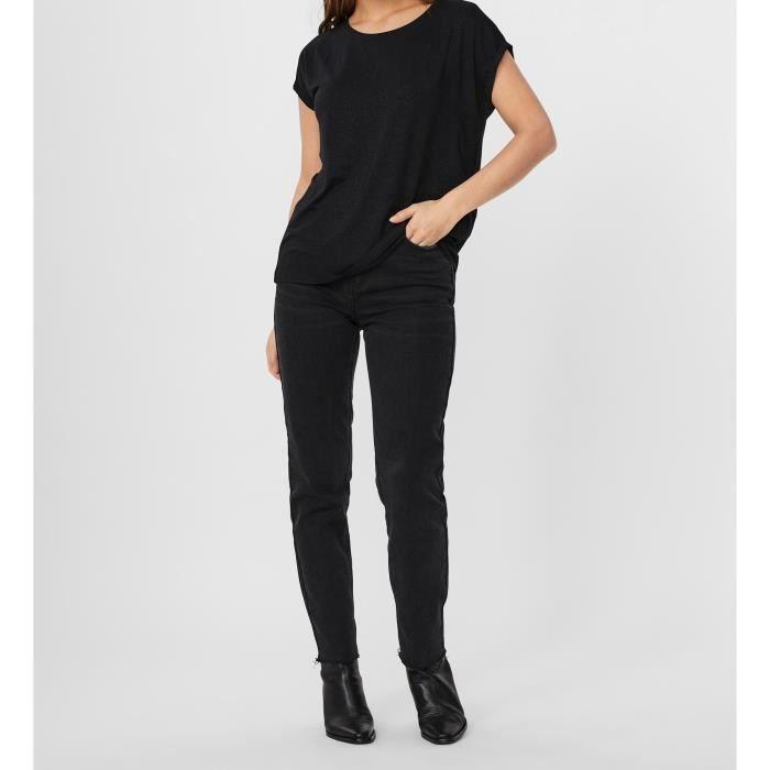 VERO MODA T-Shirt Noir Femme