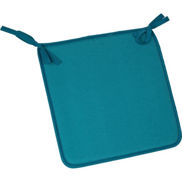 JARDIN PRIVE Assise de chaise - 39 x 39 x 2 cm - Bleu
