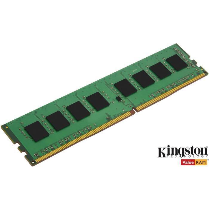 KINGSTON - RAM PC Mémoire - ValueRam DDR4 - 4Go (1x4Go) - 2400MHz - CAS17 (KVR24N17S6 / 4)