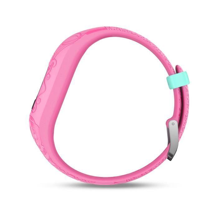 GARMIN Bracelet d'activité Princesse Vivofit Jr 2 - Enfant fille - Rose
