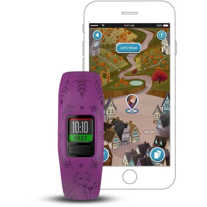 Garmin vivofit jr2 - Bracelet d'activité pour enfants - La Reine des Neiges - Anna