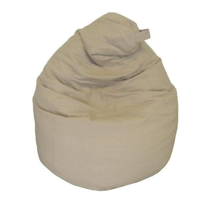 Poire pouf en coton LANA Ø75x110 cm taupe