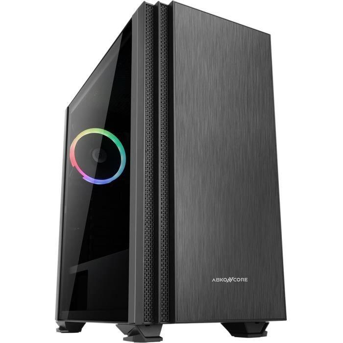 ABKONCORE PC CASE C750 Cronos - Torre media - Nero - Vetro temperato - Formato E-ATX (ABKO-CRO-750-G)