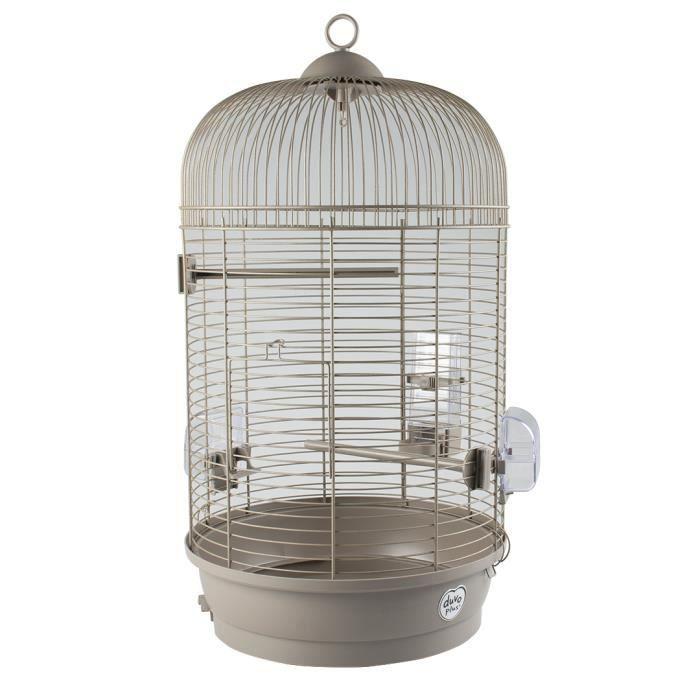 LAROY DUVO Cage pour oiseaux Mocha Julia - 34 x 34 x 65 cm - Moka
