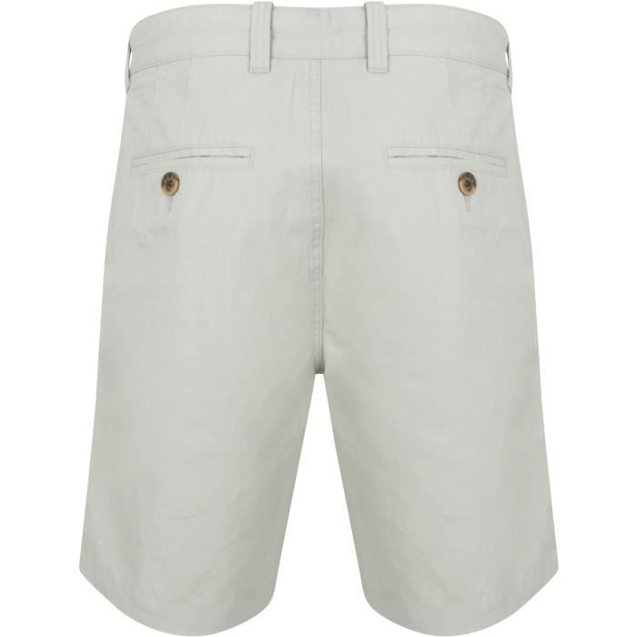 TOKYO LAUNDRY Short Chino Gris Clair Homme