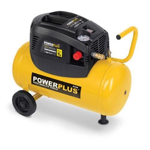 Compressore POWERPLUS - 24 L - 8 bar - 1,5HP - 1100 W - Con accessori
