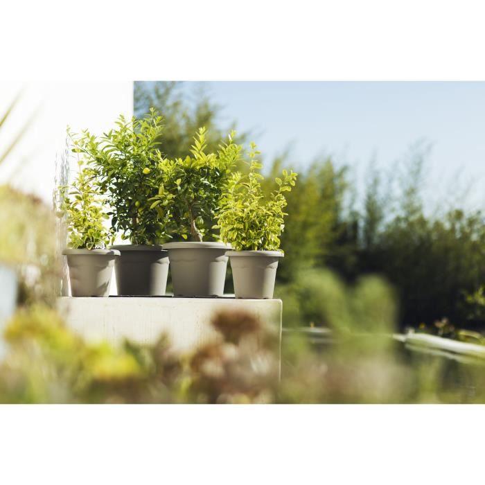 PLASTIKEN Pot a fleurs Ø 60 cm rond - Anthracite