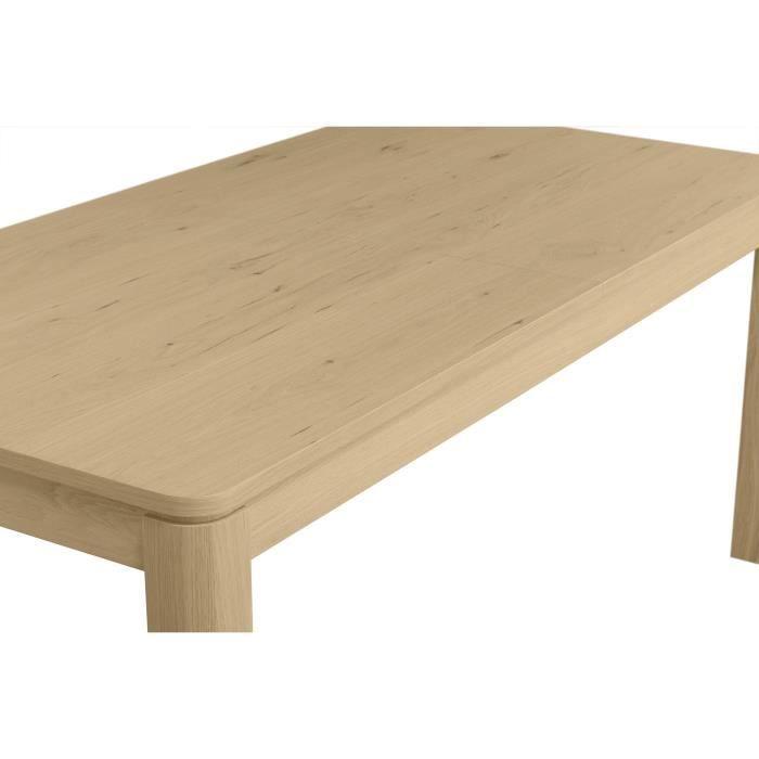 MALO - Table extensible avec 2 allonges intégrées - Décor chene - L 180/220/260 x P 90 x H 78 cm