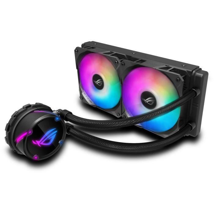 Processore ASUS ROG STRIX LC 240 RGB per acqua e gas refrigeranti (ROG STRIX LC240 RGB 240 mm di raffreddamento a liquido CPU RGB indirizzabile 2 x PWM