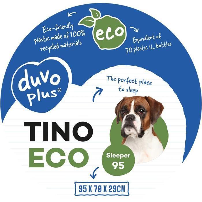 EUROPET BERNINA Panier ergonomique Sleeper Tino 90 ECO Duvo+ en plastique - Noir - Pour chien