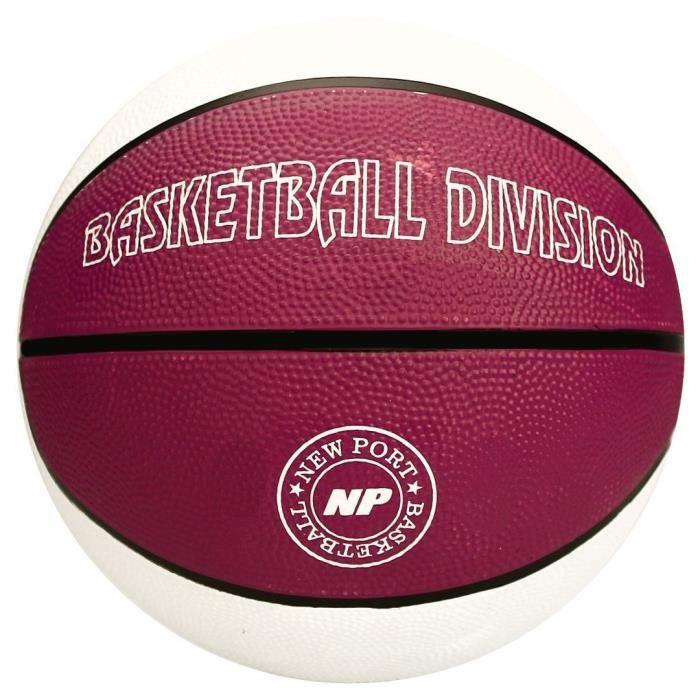 NEW PORT Ballon de basketball - Blanc - Taille 7