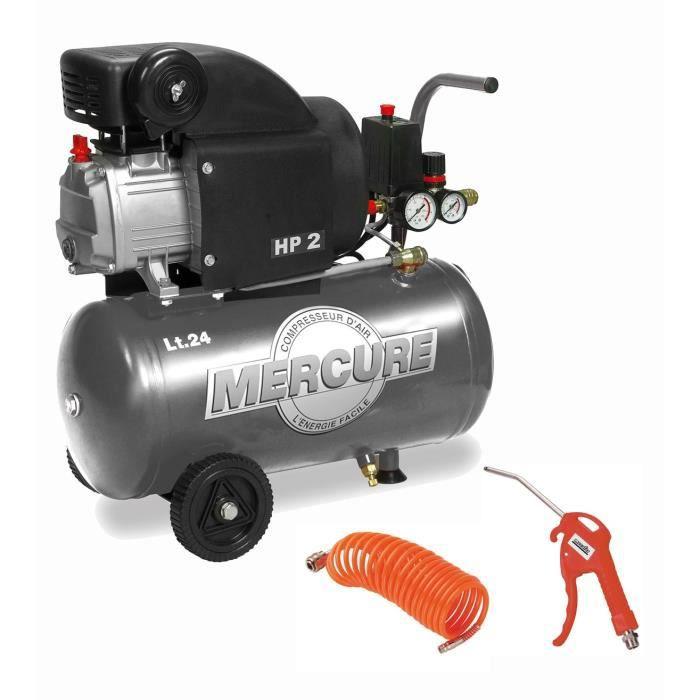 Besole000 Compressore orizzontale - Con accessori - 24 L - 1500 W.