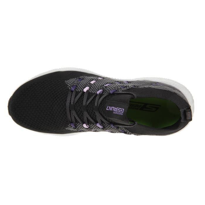SKECHERS Baskets de course Go Run 7 - Femme - Noir et violet