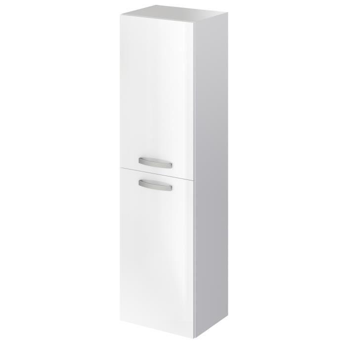 STELLA Colonne de salle de bain L 40 cm - Laqué blanc brillant