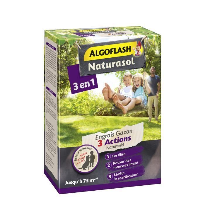 ALGOFLASH NATURASOL Fertilizzante per prato 3 azioni Naturanid - 3 kg