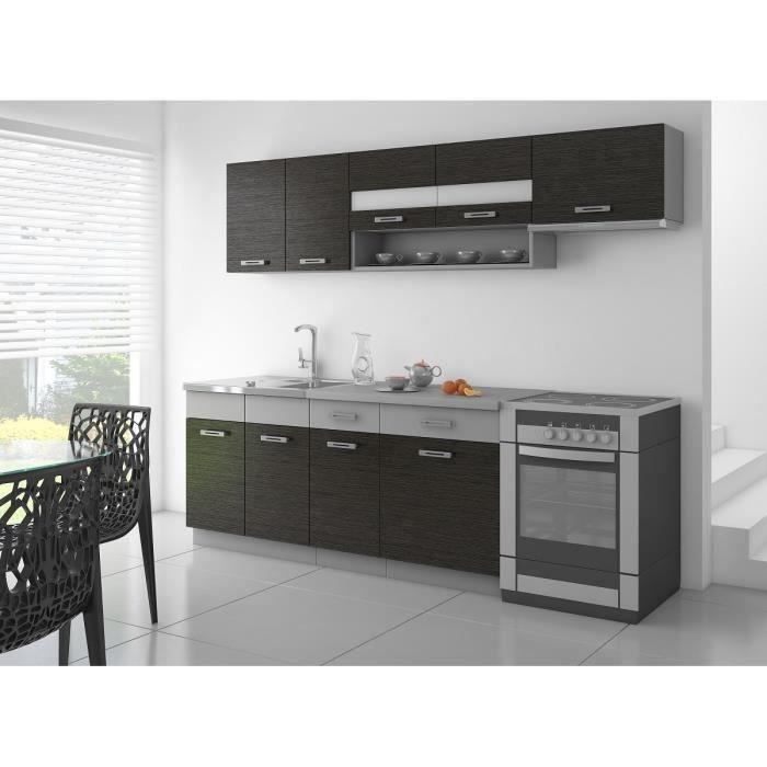 SAPHIR Cuisine complete L 2m40 - Noir et gris mat