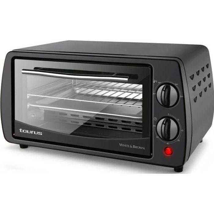 TAURUS Horizon 9-Mini forno-9 L-800 W-Cucina tradizionale, sogliola e volta-Nero