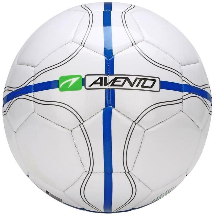 AVENTO Ballon de football - Blanc, bleu et gris