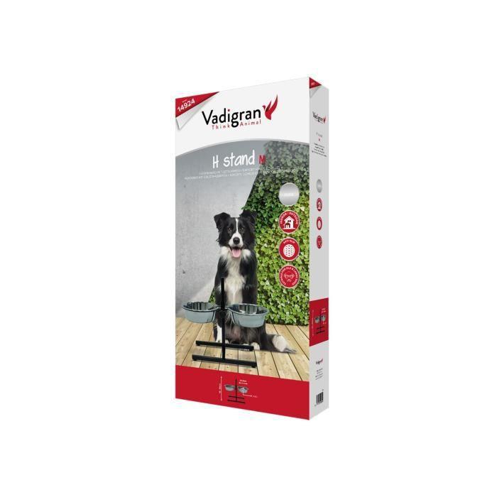 VADIGRAN Bar avec 2 mangeoires inox - 2 x 2500 ml - Pour chien