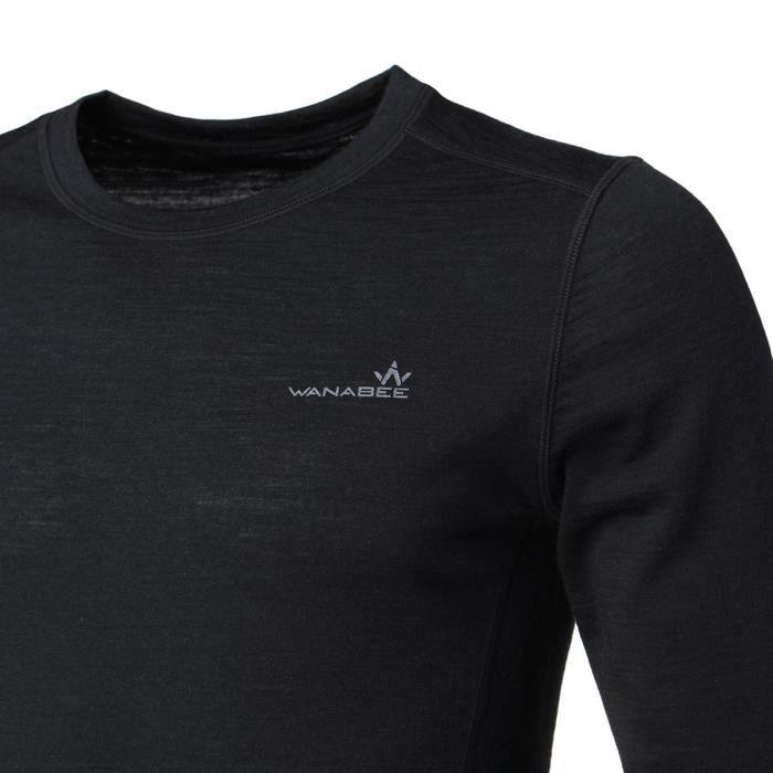 WANABEE Sous-vetement de randonnée WoolwarSml - Homme - Noir