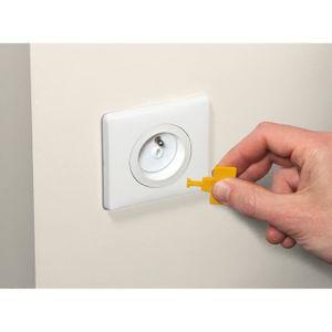 CACHE PRISE SAFETY 1st Lot de 12 cache-prises avec clés