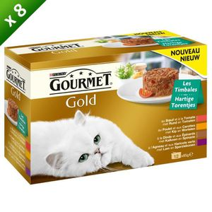 GOURMET Gold les Timbales aux viandes et aux légumes - Pour chat - (x8)