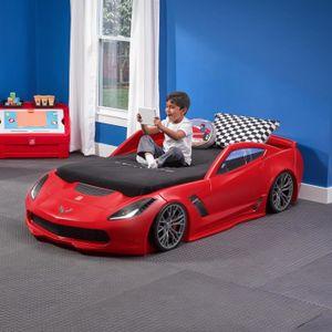 Lit évolutif Enfant Voiture Corvette Rouge Z06 Step 2