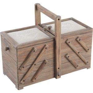 boite a couture en bois achat vente boite a couture en. Black Bedroom Furniture Sets. Home Design Ideas