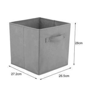 BOITE DE RANGEMENT Lot de 4 tiroir de rangement pliantes en tissu - 2