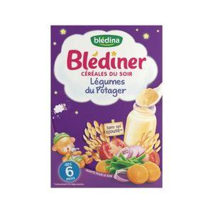 CÉRÉALES BÉBÉ BLEDINA Bledîner Céréales du soir Légumes du Potag