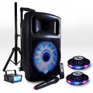 ENCEINTE ET RETOUR Pack FUZZY12BT LED Batterie 700W 12
