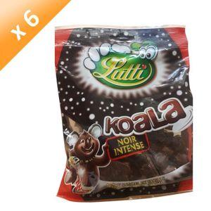 CONFISERIE DE SUCRE LUTTI Lot de 6 Guimauves Koala au chocolat noir In