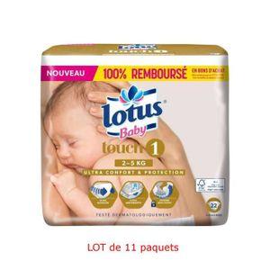 COUCHE LOTUS BABY Touch Couches Taille 1 - De 2 à 5 kg -