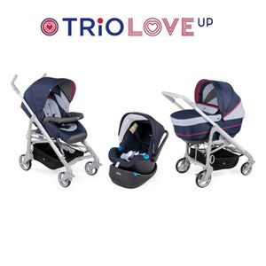 POUSSETTE  CHICCO Trio Love Up BebeCare Earl Grey