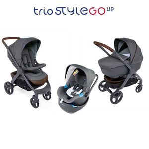 POUSSETTE  CHICCO Trio StyleGo Up Bebecare Cool Grey