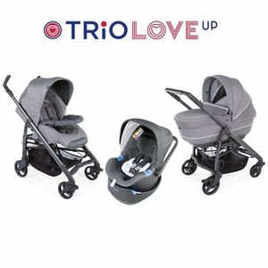 POUSSETTE  CHICCO Trio Love Up BebeCare Cool Grey