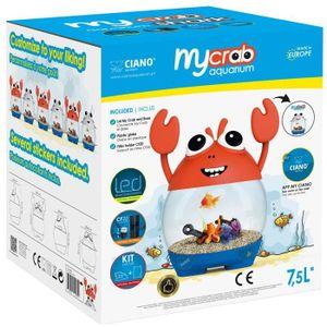 AQUARIUM CIANO Aquarium ludique MyCrab - 7,5 L - Pour poiss