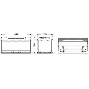 BATTERIE VÉHICULE Batterie auto Fulmen FA1000 100AH 900A