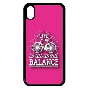 3ab1abdb78f85 Coque apple iphone xr life il all about balance fond rose - Achat ...