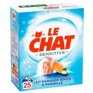 LESSIVE LE CHAT Lessive poudre Sensitive - x25