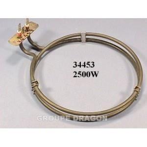 PIÈCE APPAREIL CUISSON Resistance de four circulaire 2500w pour four K…