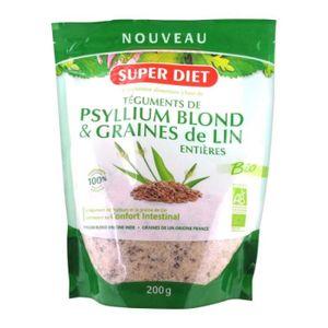 BEAUTÉ DE LA PEAU Superdiet Psyllium Blond et Graines de Lin 200 Gra